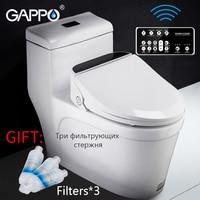 GAPPO сиденья для унитаза Смарт биде теплое сиденье для туалета умный удлиненный биде крышка умный Подогрев чистый сухой Туалет крышка