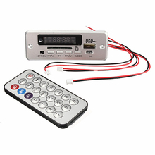 LEORY Wireless LED Car MP3 Audio Decoder FM Radio USB TF SD MMC Card Remote Control 5V kit
