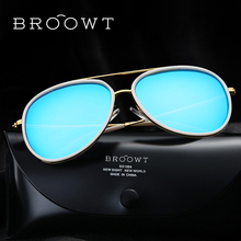 BROOWT Brand Polaroid Sunglasses Men's Women's UV400 Protection Polarized Driving Alloy Sun Glasses For Men Women BR331