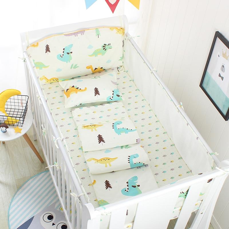 Mesh Baby Crib Bedding Set Sailboat