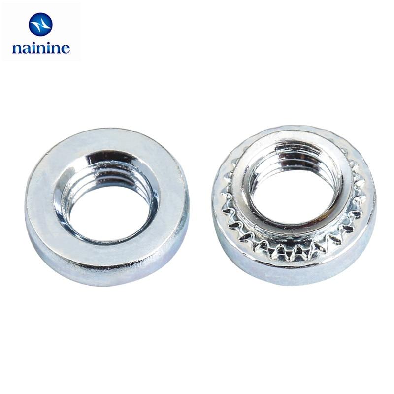 50Pcs M2.5/M3/M4/M5-1 Slab Thickness 1.0mm Zinc Plated Blind Nuts Rivnut Self-Clinching Inserting Nutsert Press Rivet Nut HW150