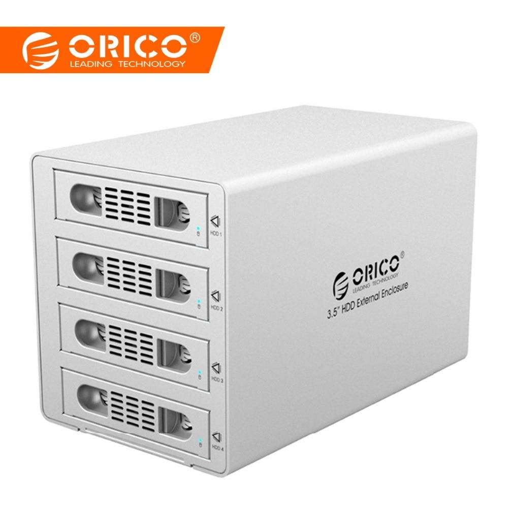 ORICO Tool უფასო ალუმინის 4 Bay 3.5 SATA USB3.0 & eSATA HDD გარე დასაკეცი სადგური RAID ფუნქცია 4bay HDD კეისი