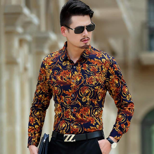 Online Shop Luxury Brand Mens Shirts Vogue Man Shirt Fancy Men