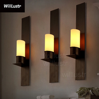 Willlustr Timmeren and Ekster wall sconce replica Kevin Reilly candle lamp vintage frosted glass light iron wall lighting