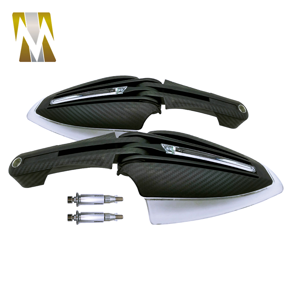 New Coming Carbon Motorcycle handguards with White +Yellow Led Turning lights for scooter ATV DIRT BIKE MX Motocross hand guards dirt guards chassis left