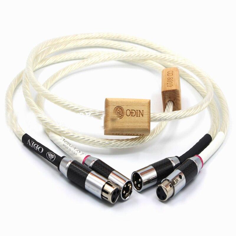 Oi-End interconexões Odin Supremo Referência Cobre Rhodium fibra de Carbono Xlr cabo de áudio de Alta Fidelidade Audiophile cabos