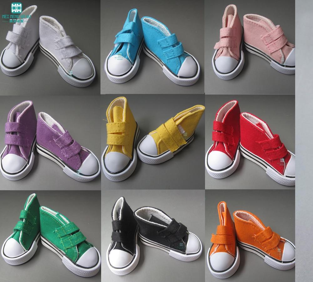 Doll Tillbehör 7,5cm Variety färg sneakers skor För 1/3 1/4 BJD - Dockor och gosedjur