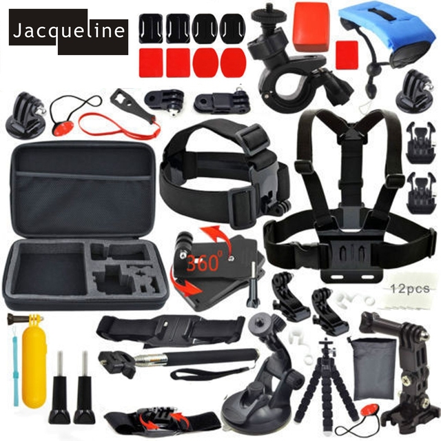Jacqueline for Accessories Set Kit Monopod for Gopro hero HD 6 5 4/3/2 for SJCAM SJ4000 SJ5000 SJ6000 for EKEN H9R H9 H9SE