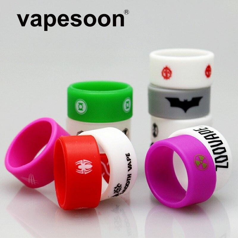 500 pièces nouvelle conception 26*12*2 anneau de bande de Vape en caoutchouc antidérapant pour TFV12 TFV8 IJUST S réservoir coloré E Cigarette Vape anneau