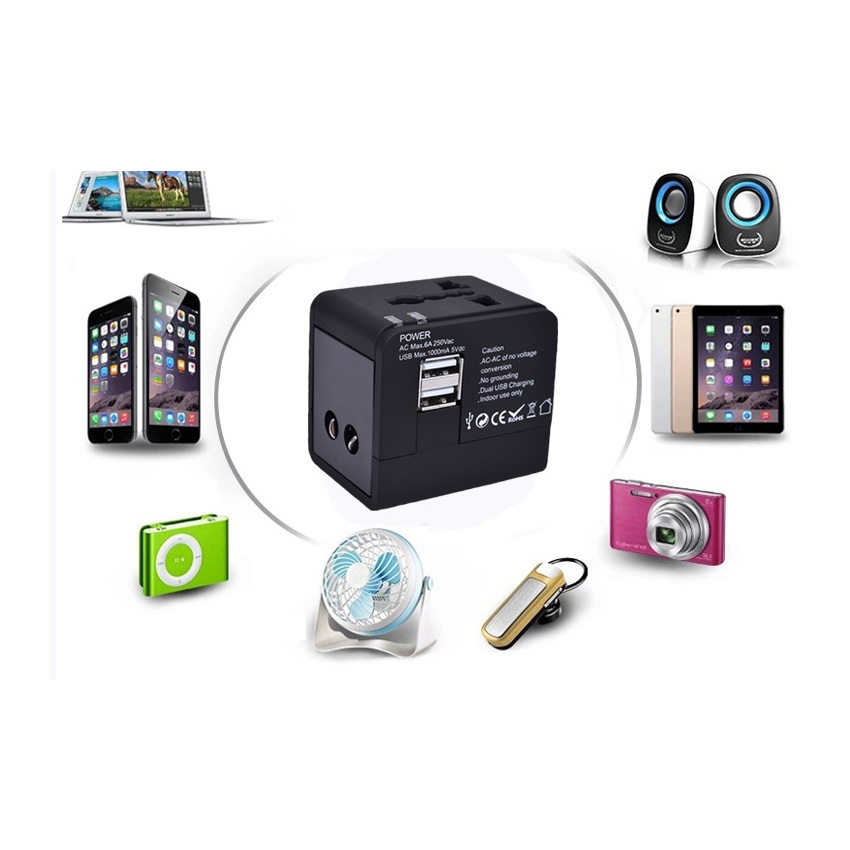 Portable Charger Power-Socket Converter-Adapter Multi-Function Travel USB Abroad Gobal