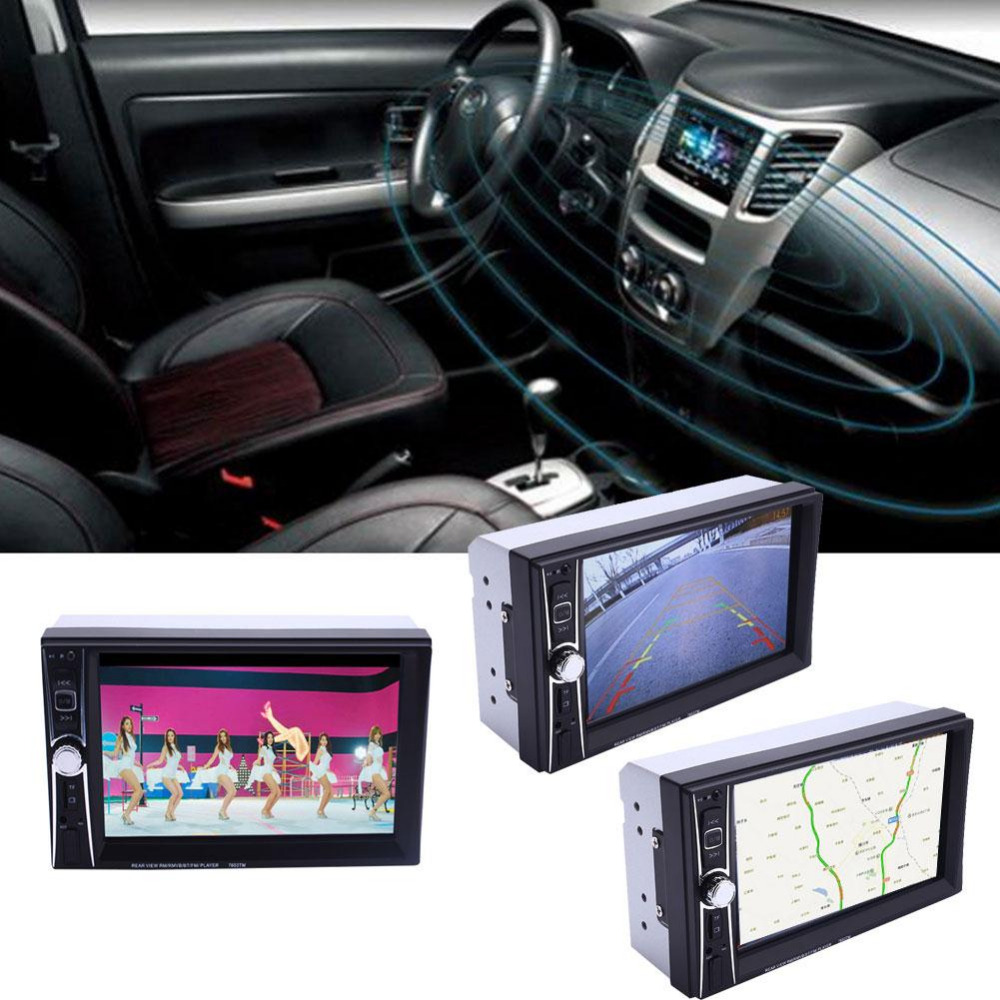 Vehemo Universal 2Din Car Bluetooth MP5 Player 7653TM  Car Kit 7 Inches Multimedia Player AUX Video