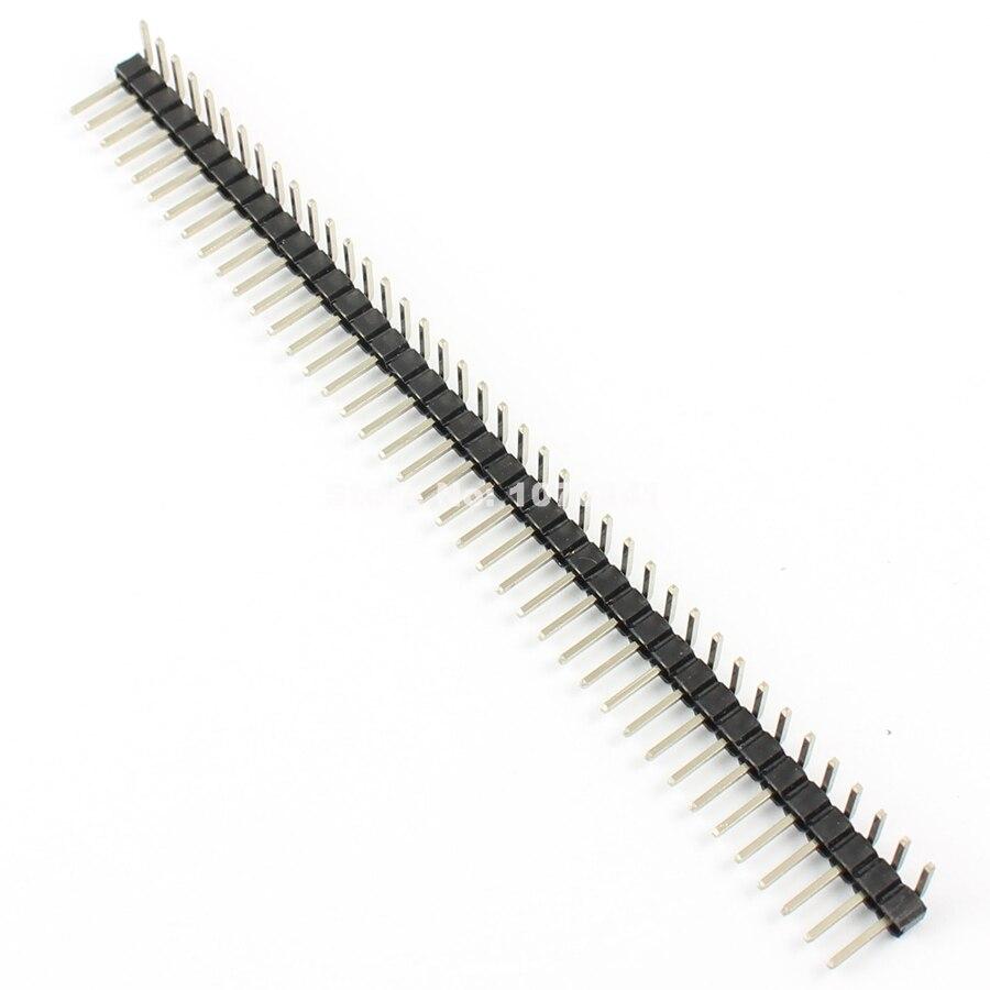 200 Pcs Per Lot 2.54mm Male 40Pin Right Angle Single Row