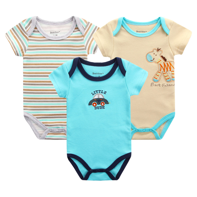 3pcs/lot Summer Baby Rompers Clothes Cotton Clothing for Newborn Baby Girls Boy Clothes Overalls Bebes Menino Cartoon Jumpsuits 2017 children s clothing pajamas newborn baby rompers baby cotton long sleeved overalls boys girls autumn bebes clothes sr105