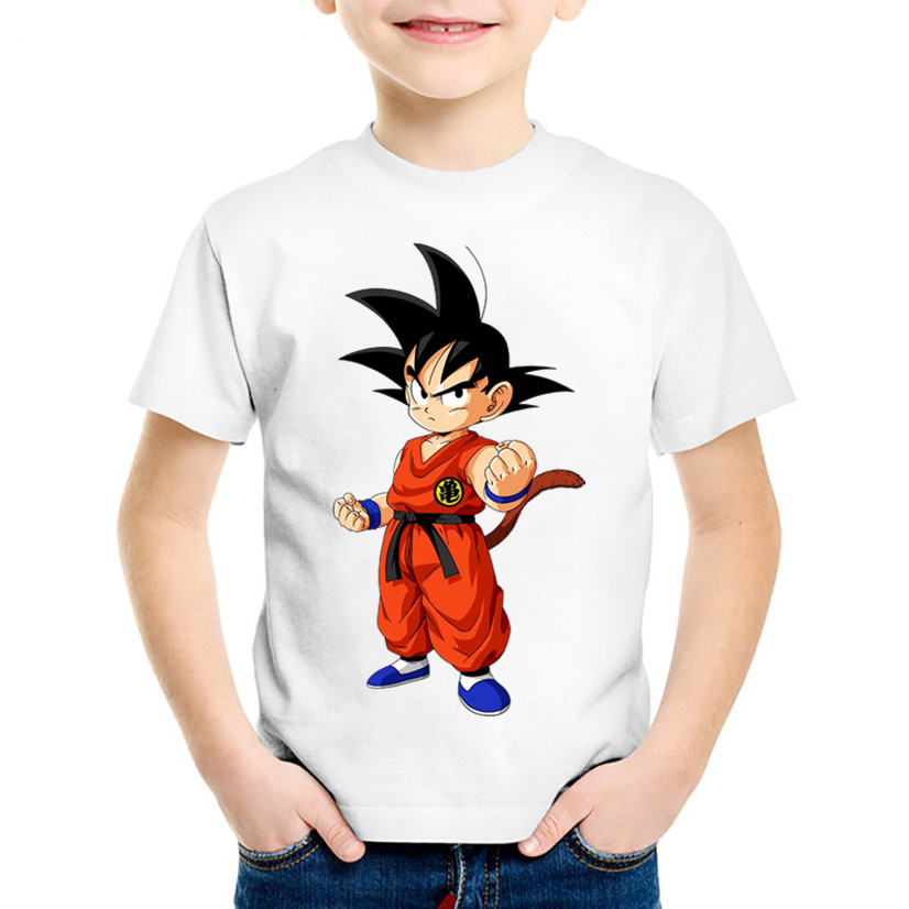 Crianças Anime Impressão Criança camisa Engraçada de T Crianças De Dragon Ball Z Goku Verão Tees Casual Tops Roupas de Bebê Para Meninos/meninas, HKP2186