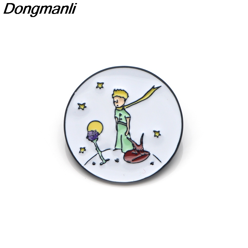 P3289 Dongmanli Le Petit Prince Enamel Pin Brooches Cartoon Creative Metal Brooch Pins Denim Hat Badge Collar Jewelry