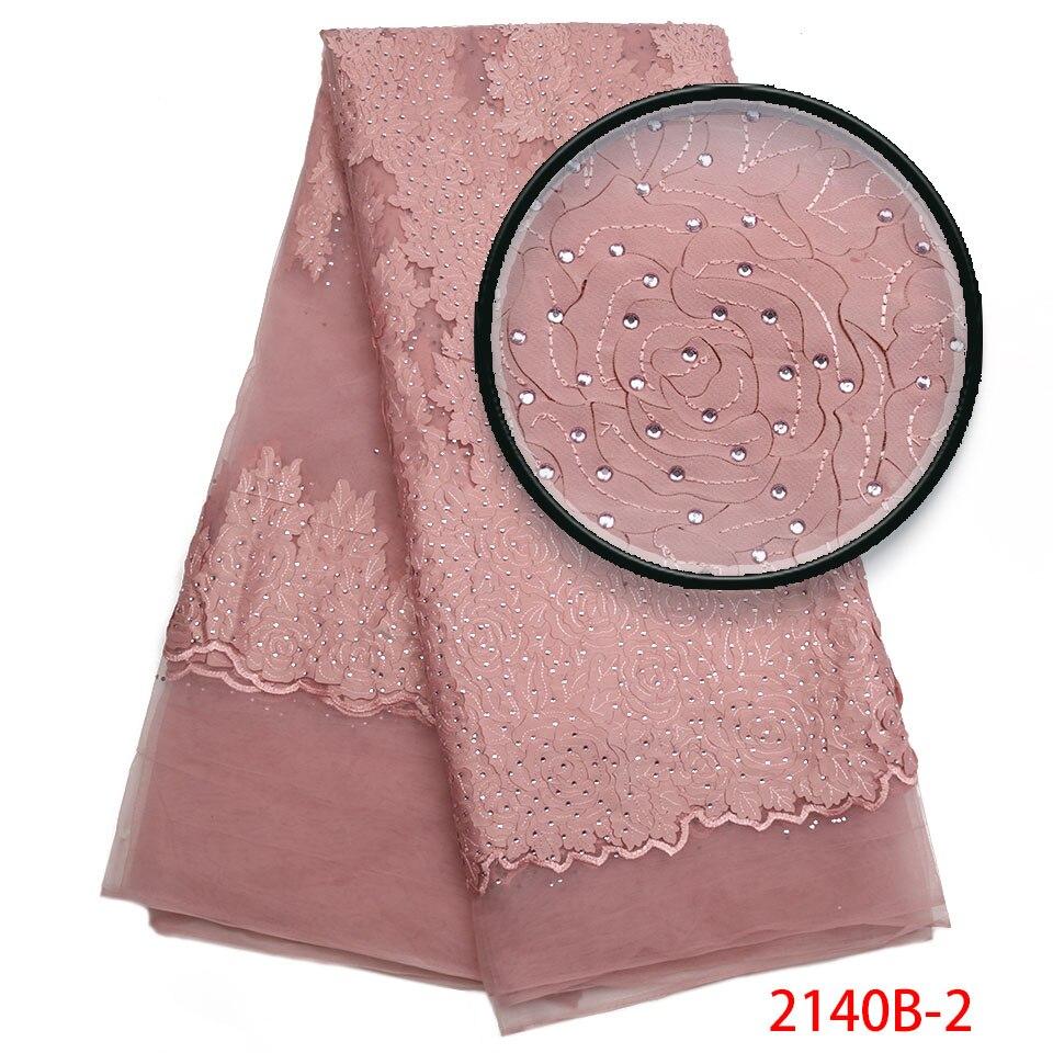 Mejor venta 2018 productos nigeriano francés cordones telas alta calidad africano piedras red encaje tela para vestido de boda XY2140B 2-in encaje from Hogar y Mascotas    1