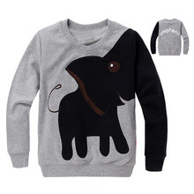 Fashion 100% New Cartoon Elephant Hoodie Children Sweater Boy Girl Pullover Top Shirts Hooded Sweater