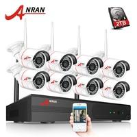 ANRAN P2P 8CH 1080P HDMI WIFI NVR 24IR Waterproof Outdoor 2MP Wireless IP Camera Surveillance CCTV