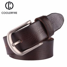 2017 New men belt top full grain 100% real genuine cowskin leather soft jeans TM050