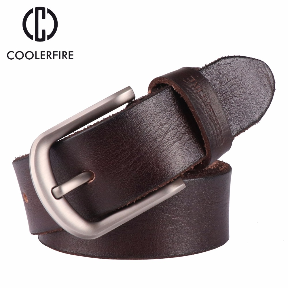 2017 New men   belt   top full grain 100% real genuine cowskin leather soft jeans   belt   TM050