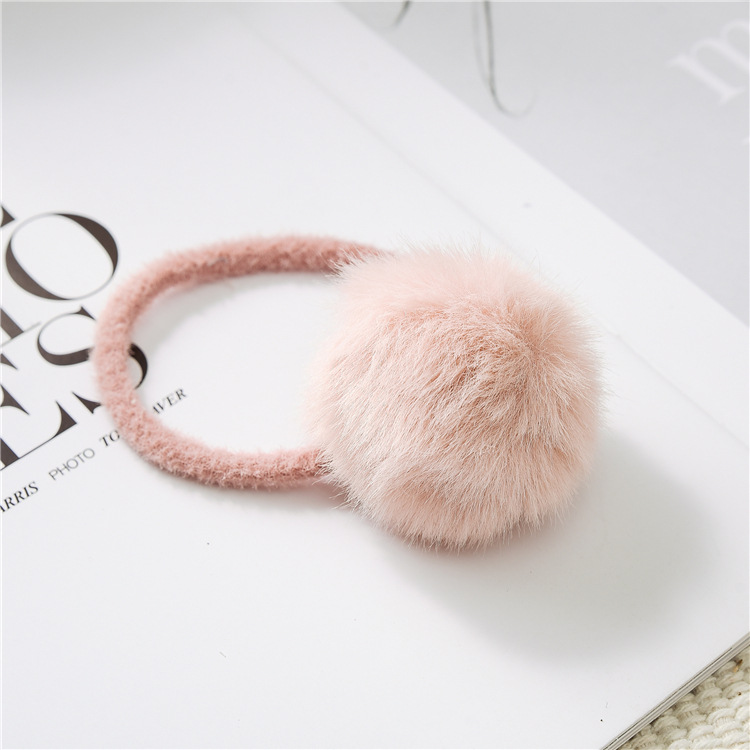 Girls pure color hair adorn New cross hair lady Fashion Rope headdress Flower Rubber Bands Small Adorn Article A bag of seven in Women 39 s Hair Accessories from Apparel Accessories
