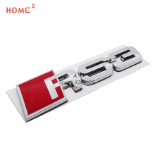 Car Styling Rear Trunk Badge Decals Auto Tail Emblem Stickers for RS3 RS 3 Logo for Audi RS3 RS4 RS5 RS6 S3 S4 A3 A4L Q5 quattro