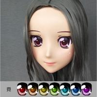(Jiang02)Female Sweet Girl Resin Half Head Kigurumi Crossdress Cosplay Japanese Anime Role Lolita Doll Mask With Eyes And Wig