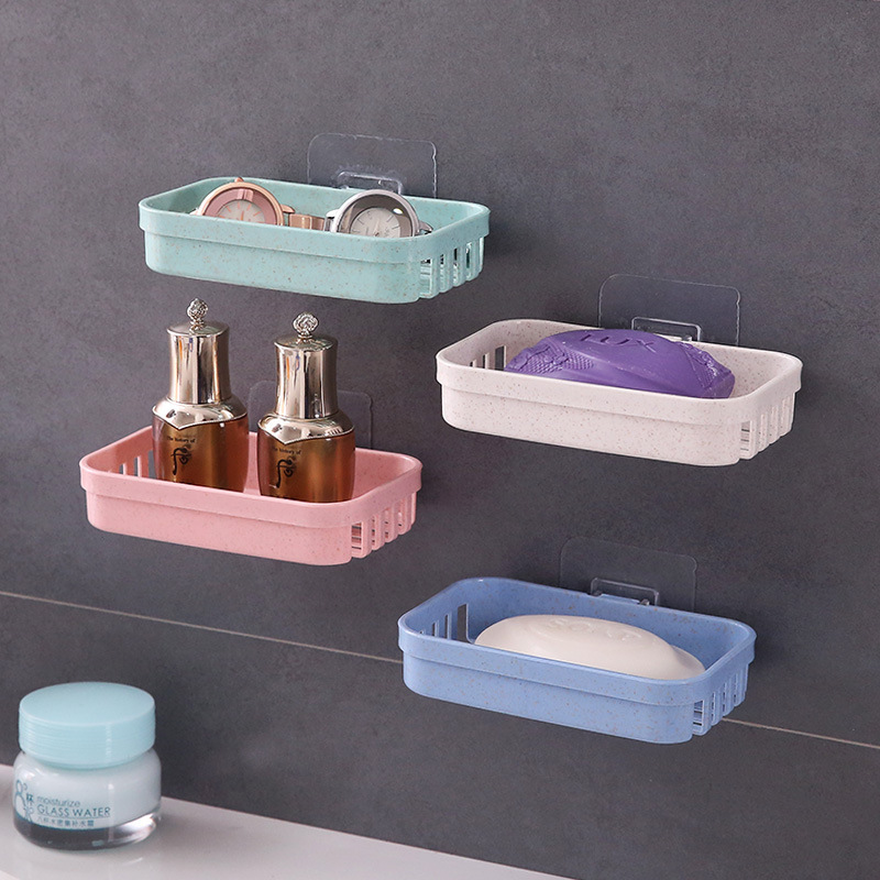 Image 1 - 1pcs Home Travel Soap Dish Box Case Holder Hygienic Easy To Carry Soap Box Sucker Holder Bathroom Soapbox Soap Draining Holders-in Portable Soap Dishes from Home & Garden