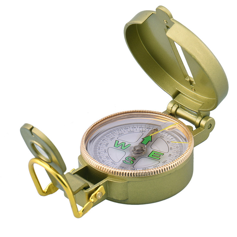 Military Prismatic Sighting Engineer Directional Compass Folding Compasses Basic Positioning Outdoor Location Map Pointing Guide