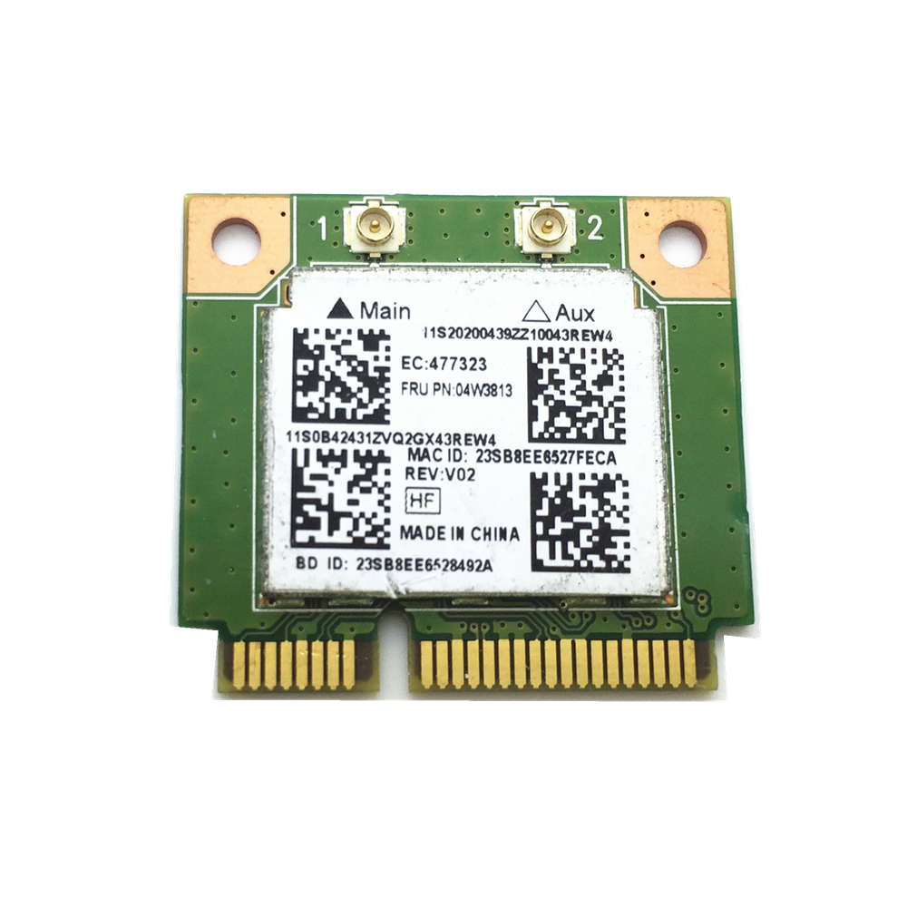 For Realtek RTL8723BE 802.11bgn + BT4.0 Wireless Card For Lenovo Thinkpad E540 S440 S540 FRU 04W3813