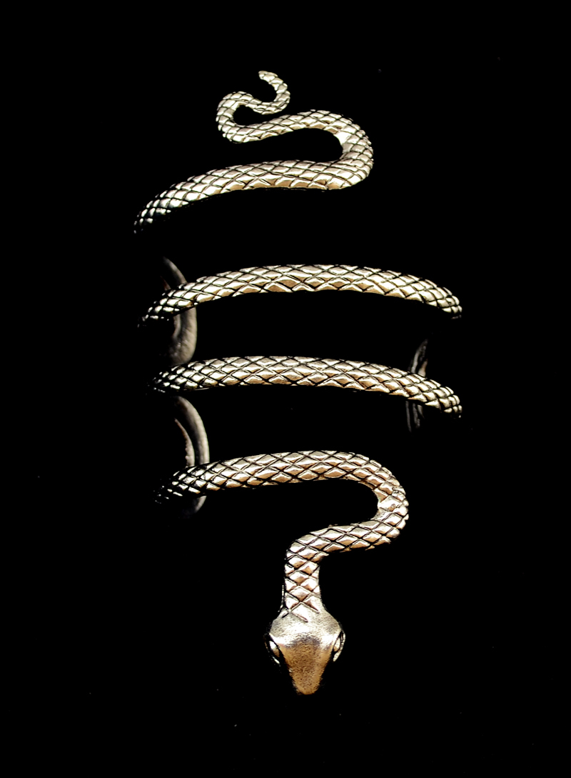 Thailand Tibet Silver Snake Open Cuff Bracelets Bangles Armlet Men - Fashion Jewelry - Photo 4