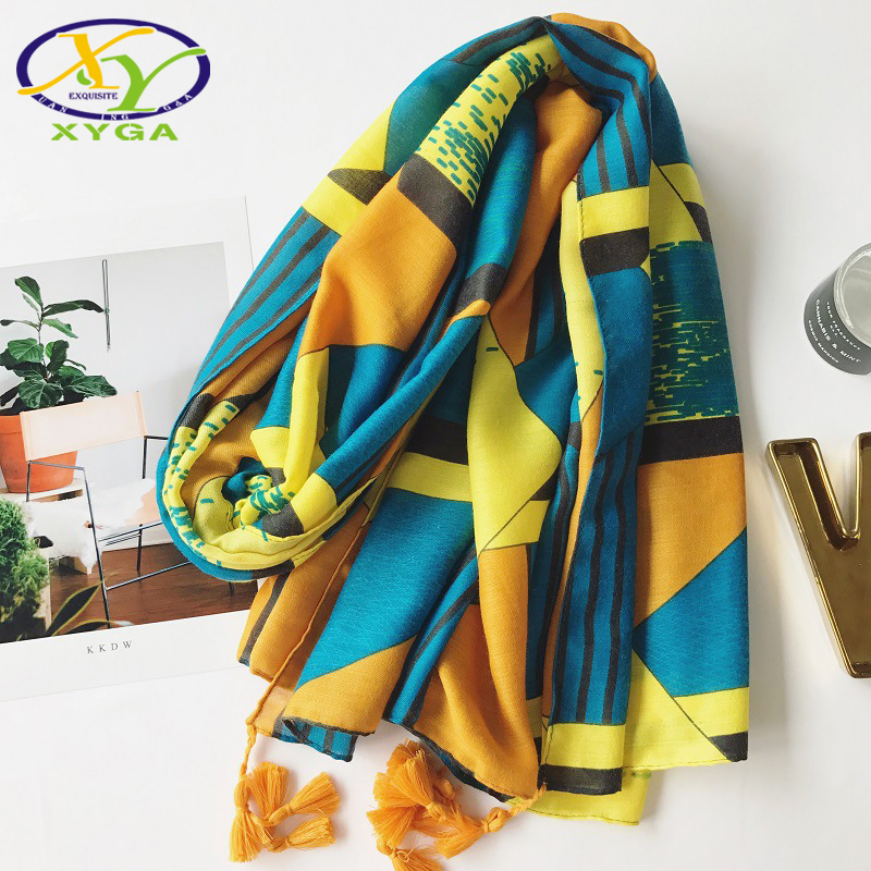 1PC 2018 New Design Ethnic Women Scarf Long Tassels Soft Women Shawls Casual Cotton Viscose Long Pashmina For Summer Traveling ...