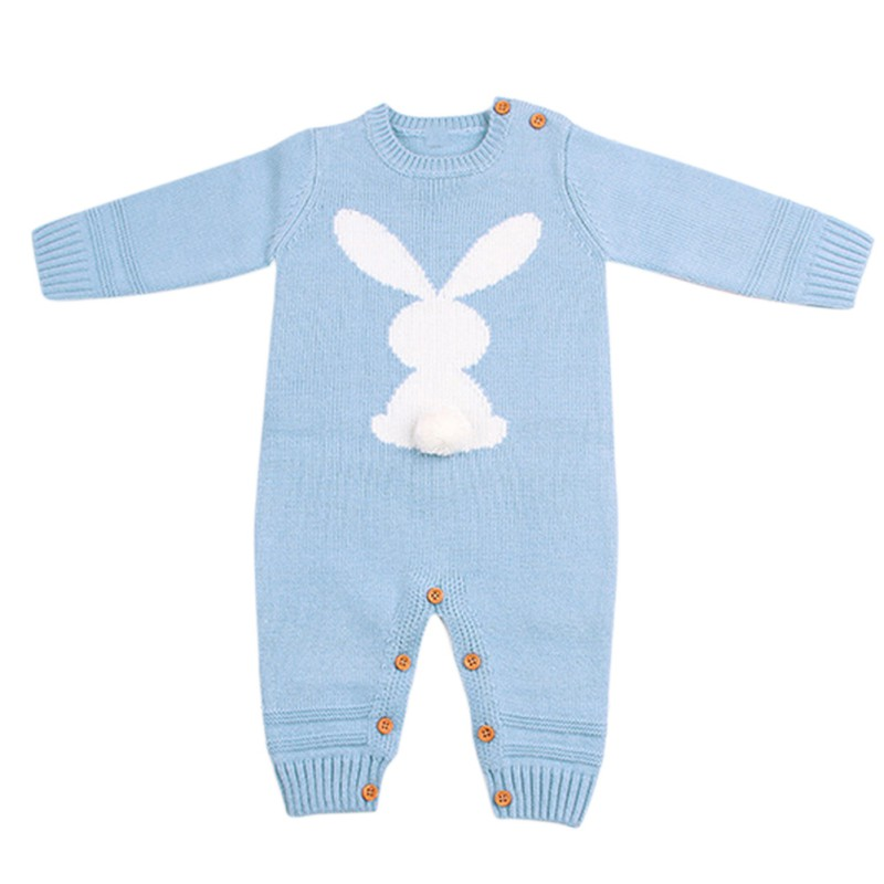HTB1HshKXtW5K1Rjt XBq6ysuFXaF Baby Rompers Set Newborn Rabbit Baby Jumpsuit Overall Long Sleevele Baby Boys Clothes Autumn Knitted Girls Baby Casual Clothes