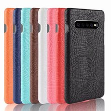 For Samsung Galaxy S10 Case Luxury Retro Crocodile Cool Leather Pattern Back Cover For Samsung S10 Plus S10 Lite Galaxy S10 Lite