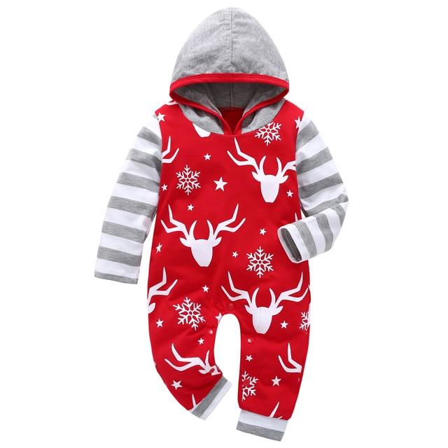 c1c0dbd53129f 2019 automne bébé garçon fille vêtements ensemble à manches longues à  capuche une pièce noël bébé