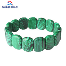 CAMDOE DANLEN Fashion Bian Stone Malachite Health Charm Bracelet Jewelry For Women Men Power Healing Classic Bangle Wholesale