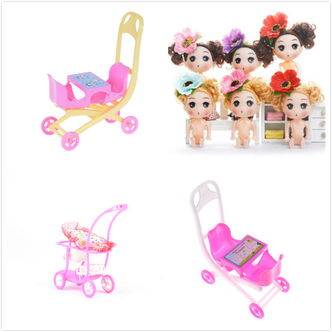 Us 0 77 31 Off 1pc Top Brand Embly Double Baby Stroller Trolley Nursery Furniture Toys For Doll Pink High Quality In Dolls Accessories From