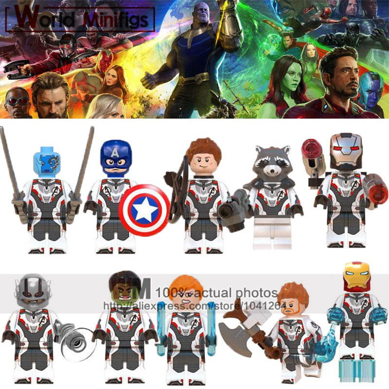 Alert Legoings Avengers 4 Endgame Super Heroes Antman Iron Man Thor Hulk War Machine Legoings Marvel Building Blocks Toys Kids Gifts Model Building