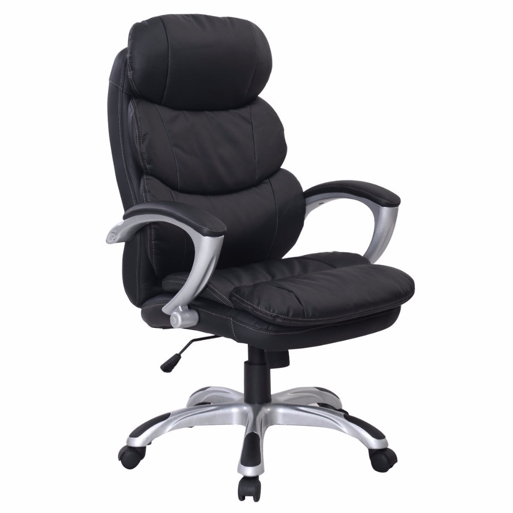 Goplus New PU Leather High Back Desk Office Chair Executive Ergonomic Computer Task Home Modern Swivel Gaming Chair HW50277 free shipping computer chair net cloth chair swivel chair home office