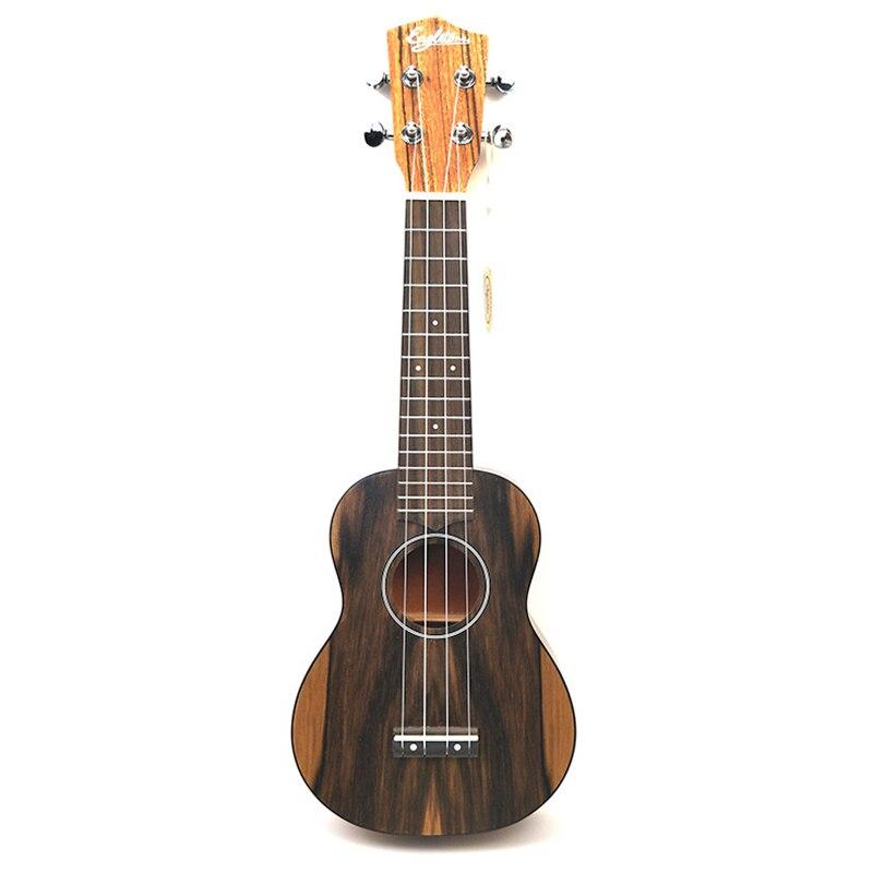 Haute qualité 21 pouces Soprano ukulélé 4 cordes Mini guitare noyer matériel 15 frettes Ukelele Hawaii guitare de voyage