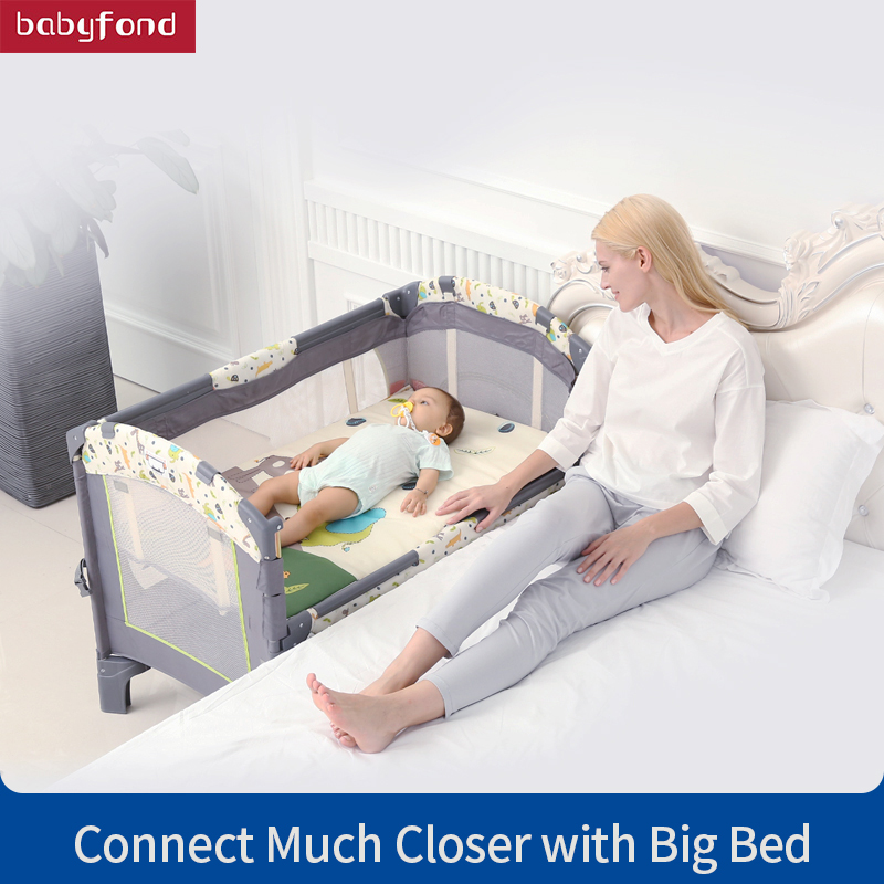 Valdera Multi Functional Folding Crib European Portable Game Bed Bb newborn bed Joint With parent Mosquito NetValdera Multi Functional Folding Crib European Portable Game Bed Bb newborn bed Joint With parent Mosquito Net