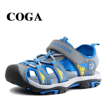 COGA rubber closed toe sandals,childrens summer sandals boys and girls fashion for kids sandalias ninas 3-16 years old
