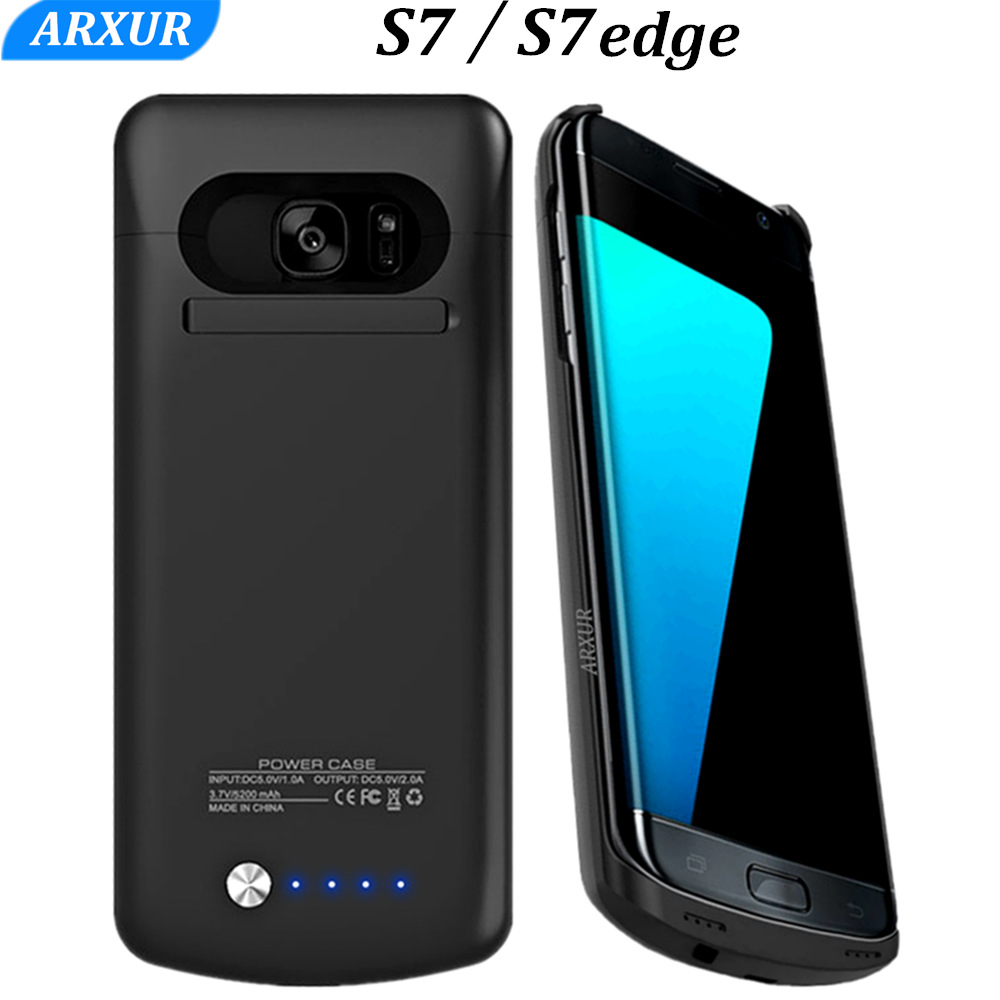 cheaper 25760 c2a8a US $16.77 30% OFF|S7 Battery Charger Case For Samsung Galaxy S7 Edge  Battery Case Power Bank Slim Charge Cover S 7 Edge Extra External Backup  Thin-in ...