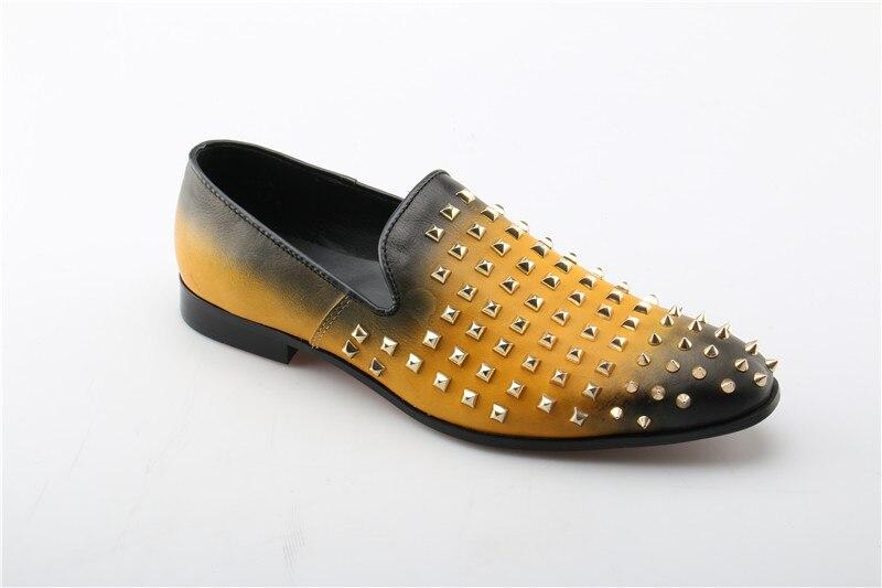 Nova Rebites Confortáveis As Show Da Homens Zapatillas Design Couro Marca Ouro De Preto Moda Apartamentos Luxo 2018 Genuíno Sapatos Homem Casuais Zapq8