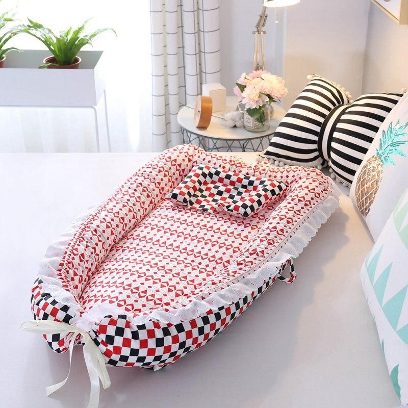 Berceau bébé pour lit Portable bébé chaise longue forborn berceau respirant et nid de sommeil avec oreiller
