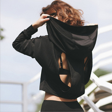 Women Hoodie Sweatshirt Backless Hollow Out Sweatsh