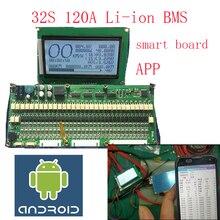 Carte de protection de batterie lipo lithium polymère BMS/PCM/PCB 32S smart board pour batterie Li ion 32 Pack 18650 (ANT BMS)