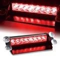 Bom Red 8 LED 8LED Car traço Strobe Flash luz de emergência da polícia luz de aviso 3 modo