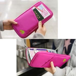 Image 5 - 多機能トラベルパスポートパッケージクレジット Id カード現金財布多色収納バッグ財布文書ジッパー