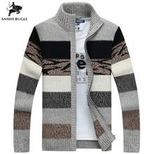 SAMHIBUGLE вязаный свитер, мужские кардиганы с воротником, зимний шерстяной свитер, модные кардиганы, мужские свитера, пальто, брендовая мужская одежда